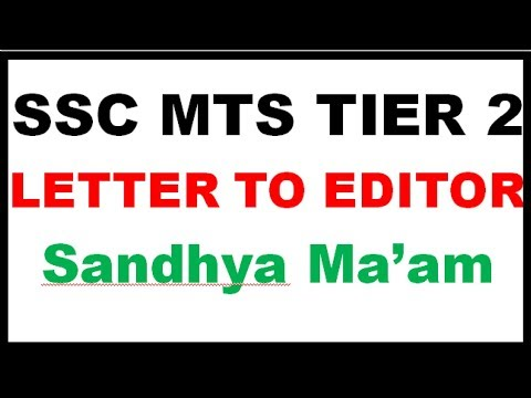 formal letter letter to editor format ssc mts tier 2 letter writing ssc mts tier 2