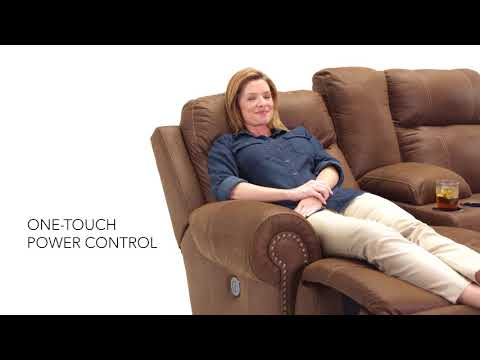 Austere 3840096 Power Reclining Loveseat with Console