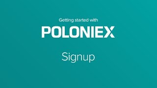 How To Signup with Crypto Exchange Poloniex