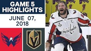 NHL Highlights   Capitals vs Golden Knights, Game 5 - June 7, 2018
