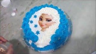 Jedlý papír na dort princezna Elsa (Ledové království - Frozen)