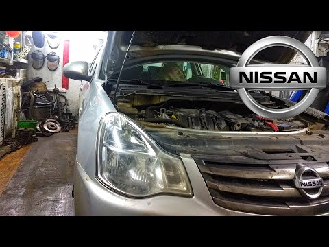 Фото к видео: Ниссан Альмера G15 (АвтоВАЗ). Замена ремня ГРМ.