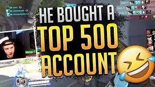 He BOUGHT a TOP 500 Account... *EXPOSED* (PS4 Overwatch)