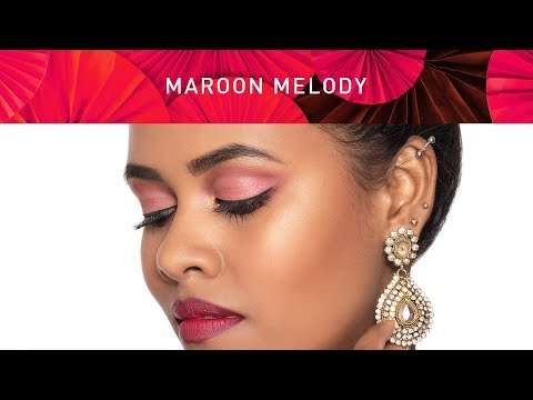 Navratri Makeup | Maroon Makeup Look for Navratri | Maroon Makeup Tips | MyGlamm