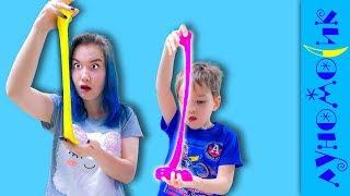 Дети сами делают слайм! Что у них получилось?