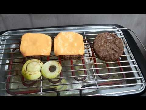 Tefal BG902812 EasyGrill Standgrill Cheeseburger-Hamburger selber machen