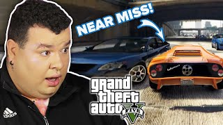 People Try The Near Miss Challenge in GTA V