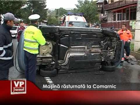 Maşină răsturnată la Comarnic