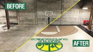 Custom Seattle Supersonics Basketball Court Using Concrete Overlay | How To Video