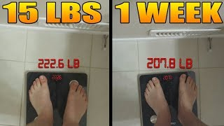 How I Lost 15 lbs In 1 Week