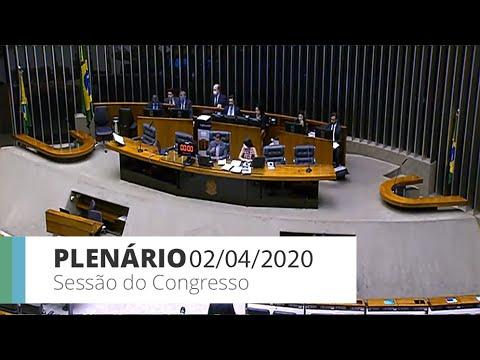 Plenário - Relator altera LDO em razão do coronavírus - Sessão virtual do Congresso - 02/04/20