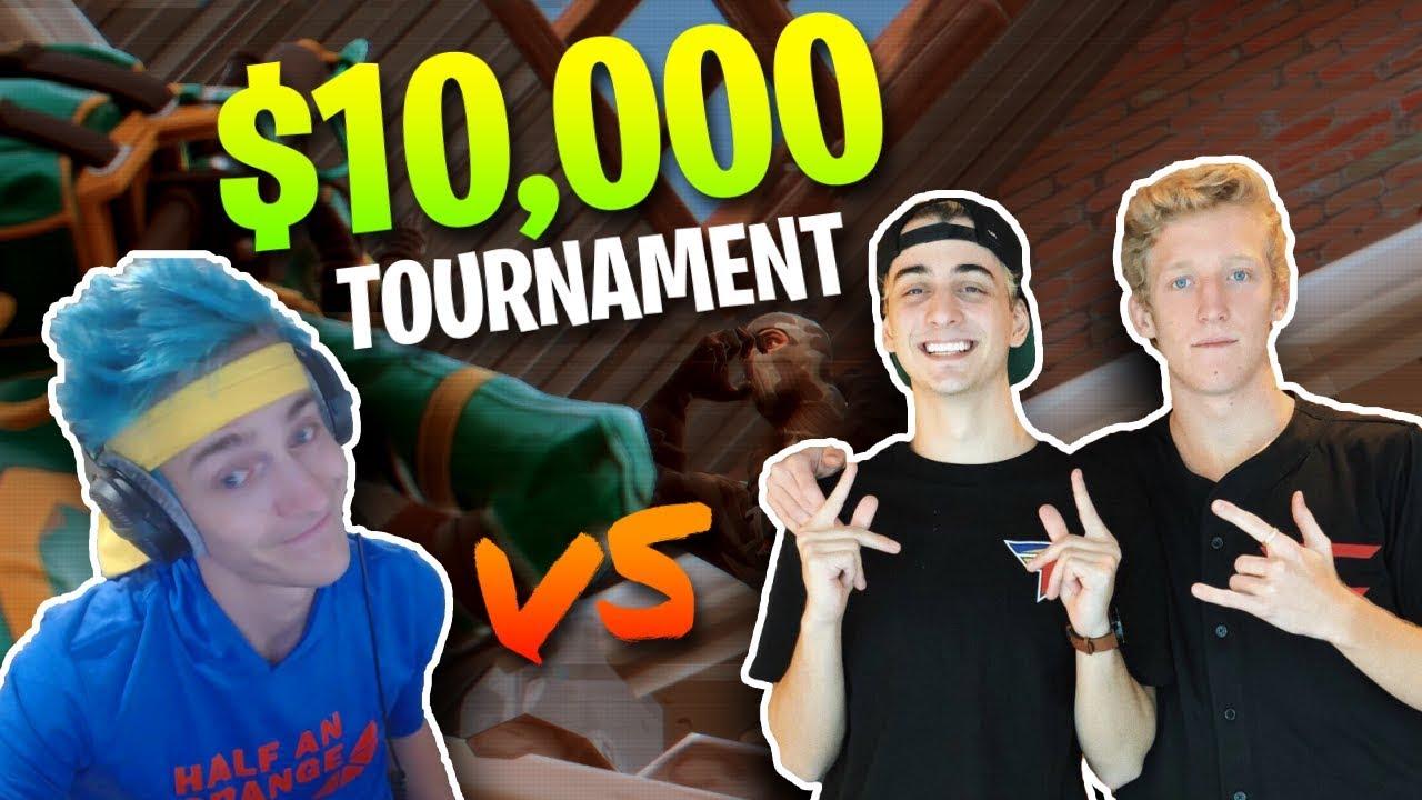 Ninja & KingRichard vs  FaZe Tfue & Cloak - $10,000 Fortnite