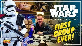 Opening Day Galaxy's Edge Disneyland | First Ever Group to Enter the New Land!