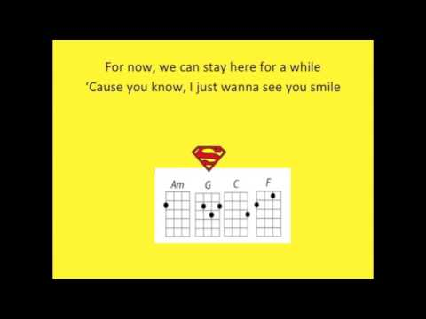 One Call Away For Ukulele Play Along With Chords Key Of C Chords