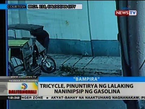 BT: Tricycle, pinuntirya ng lalaking naninipsip ng gasolina