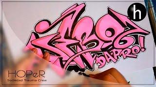 Drawing graffiti on paper #7   Name request   Debo Da Pro