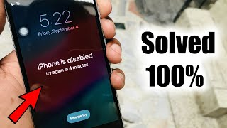 How to Unlock Disabled iPhone/iPad/iPod without Passcode (NO DATA LOSS) FIX iPhone is Disabled🔥🔥