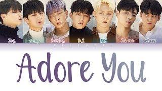 Gambar cover iKON (아이콘) - 'ADORE YOU (좋아해요)' LYRICS (Color Coded Lyrics Eng/Rom/Han/가사)
