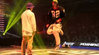 YASS(B.B.B.) vs oSaam(sucreamgoodman) DANCE@LIVE JAPAN FINAL 2014 HIPHOP【SEMIFINAL】