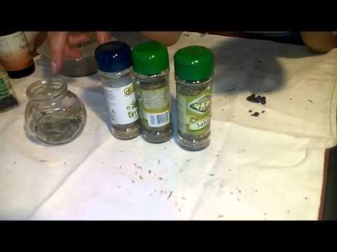 Mezzi da un fungo e un terriccio su una tegola di ceramica