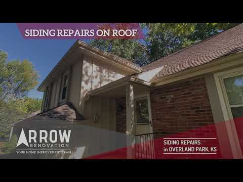 Siding Repairs on an Overland Park, KS Home by Arrow Renovation