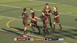 Boys' soccer highlights: Stonington 3, East Lyme 0