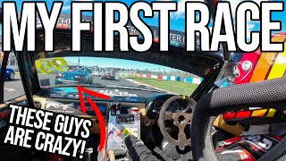 Avoiding A First Corner PILE UP In My First Ever Race!