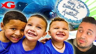 WE WENT TO THE GEORGIA AQUARIUM SHARK FOR AUSTINS BIRTHDAY! DINGLEHOPPERZ VLOG