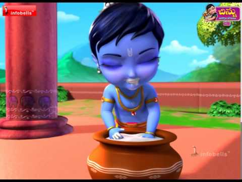 Download Little Krishna - Telugu Rhymes For Kids HD Mp4 3GP Video and MP3
