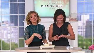 Diamonique Pear Cut Bridal Ring Set, Sterling On QVC