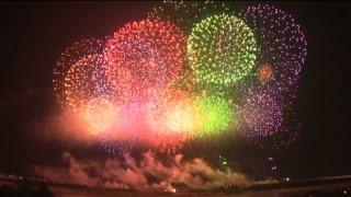 Самара салют у ладьи День города 2014.HD video.