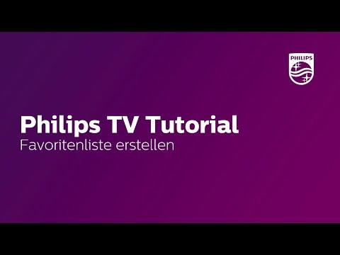Favoritenliste erstellen - Philips TV Tutorial