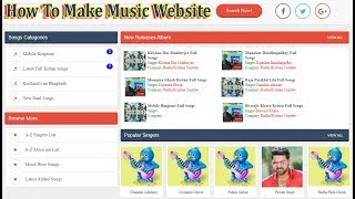 Mp3 Music Download Website Template