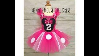Minnie Mouse Birthday Tutu Dress   DIY Tutorial   How To Make A Tutu