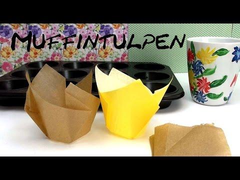 DIY Muffin Formen / Förmchen /  Muffintulpen ganz einfach selber machen Anleitung | deutsch