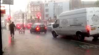 preview picture of video 'Rain in Wood Green, London, July 25th 2014'