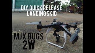 DIY quick release landing skid MJX BUGS 2W