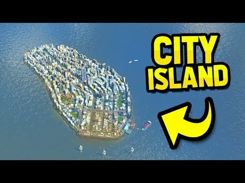 BUILDING A HUGE CITY ON A ISLAND in CITIES SKYLINES