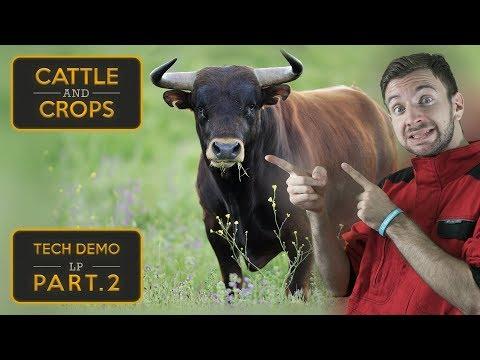 STARÁME SE O BÝČKY! | Cattle and Crops Tech Demo #02