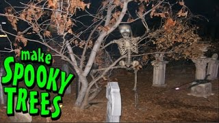 making spooky halloween tree decorations fake tree decor idea diy