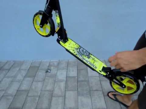 STAR SCOOTER® Premium City Scooter, Toller vollgefederter Klapproller mit sehr großen Leichtlauf Räd