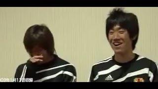 香川真司と乾貴士こっちが笑っちゃうぐらいヘラヘラしてるおもしろインタビュー