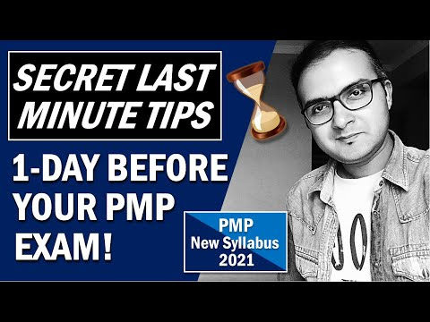 PMP EXAM LAST MINUTE TIPS| How to Prepare for PMP Exam ...