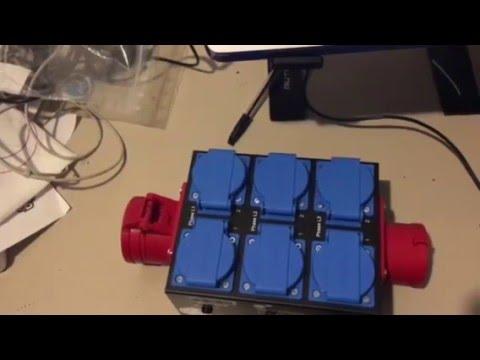 Stairville CEE Split Box V2616 CE