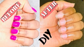 HOW TO SAFELY REMOVE YOUR GEL NAILS AT HOME WITHOUT BREAKAGE | Simply Joecy.