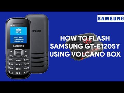 How To Flash Samsung GT-E1205Y Using Volcano Box - [romshillzz]
