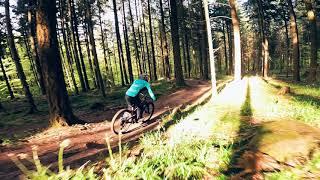Downhill Bike Chase 2 w/ FPV Race Drone ????????