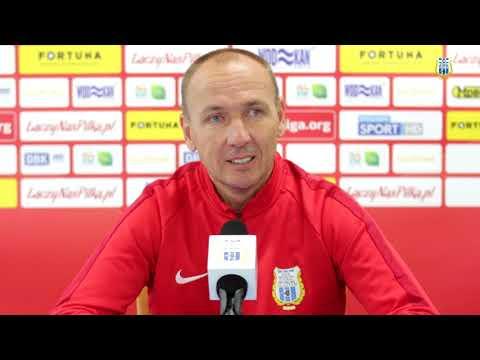 Adam Majewski przed meczem Stomil Olsztyn - GKS Bełchatów