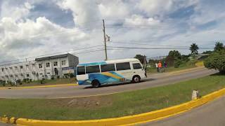 DRIVING FROM MONTEGO BAY AIRPORT (SANGSTER) TO SUNSPLASH RESORT, MONTEGO BAY, JAMAICA