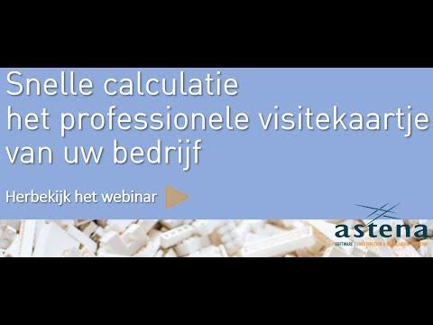 Video: Snelle calculatie, het professionele visitekaartje van uw bedrijf